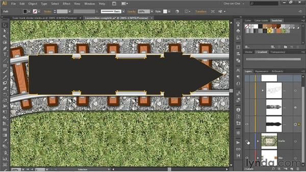 Outlining an entire multi-stroke effect: Illustrator CS6 One-on-One: Advanced