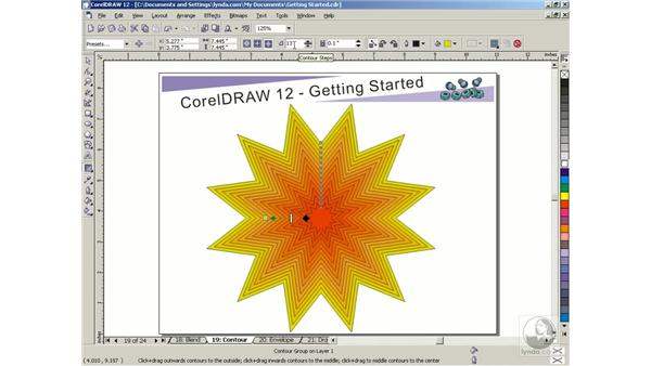 contour tool: Getting Started with CorelDRAW Graphics Suite 12