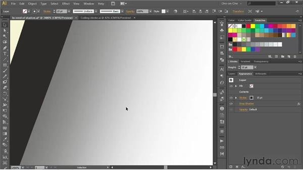 Improving the performance of drop shadows: Illustrator CS6 One-on-One: Advanced