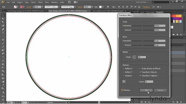 Applying a single effect multiple times: Illustrator CS6 One-on-One: Advanced