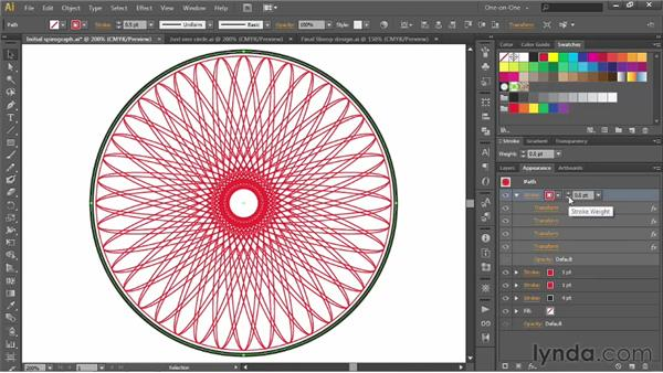Creating an intricate Spirograph pattern: Illustrator CS6 One-on-One: Advanced