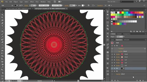 Adding scalloped edges with Pucker & Bloat: Illustrator CS6 One-on-One: Advanced