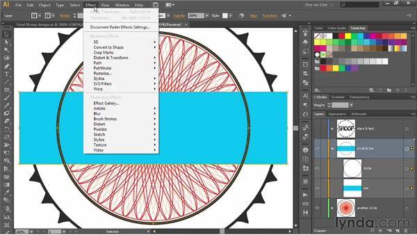 Applying a dynamic Pathfinder to a layer: Illustrator CS6 One-on-One: Advanced