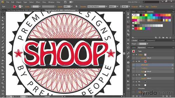 Creating a sculptural type effect: Illustrator CS6 One-on-One: Advanced