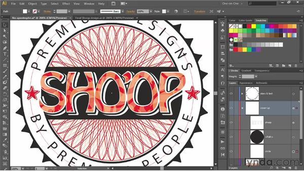 Editing text inside a dynamic effect: Illustrator CS6 One-on-One: Advanced