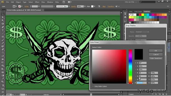 Copying effects from one layer to another: Illustrator CS6 One-on-One: Advanced