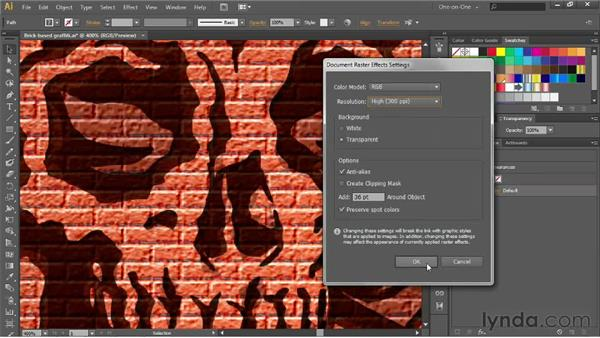 Adjusting the resolution of your effects: Illustrator CS6 One-on-One: Advanced