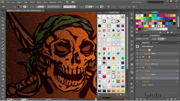 Combining and saving graphic styles: Illustrator CS6 One-on-One: Advanced