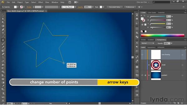 Creating a perfectly centered star shape: Illustrator CS6 One-on-One: Advanced