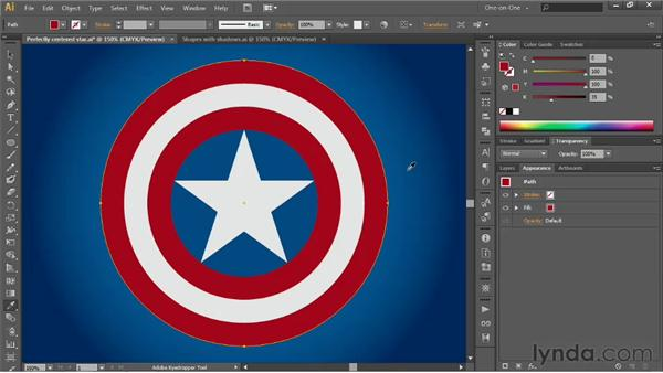 Precisely scaling concentric circles: Illustrator CS6 One-on-One: Advanced