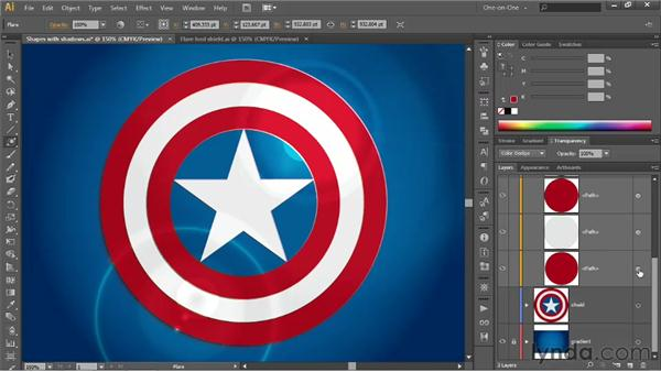 Adding reflective highlights with the Flare tool: Illustrator CS6 One-on-One: Advanced