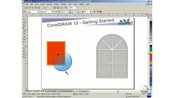 transparency tool: Getting Started with CorelDRAW Graphics Suite 12