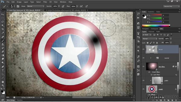 Photographic texture and brushed highlights: Illustrator CS6 One-on-One: Advanced