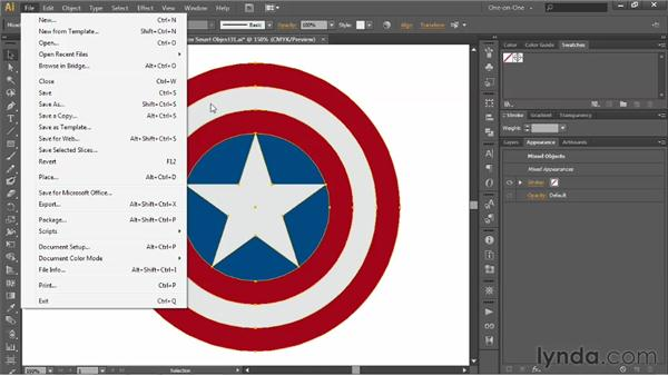 Modifying a vector Smart Object in Illustrator: Illustrator CS6 One-on-One: Advanced