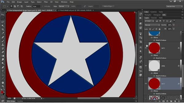 Assign layer effects to native shape layers: Illustrator CS6 One-on-One: Advanced