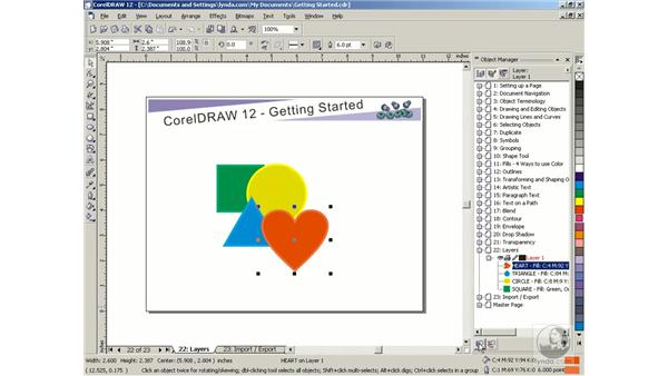 layers: Getting Started with CorelDRAW Graphics Suite 12