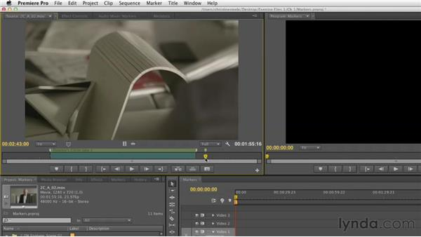 Adding and editing markers: Narrative Scene Editing with Premiere Pro
