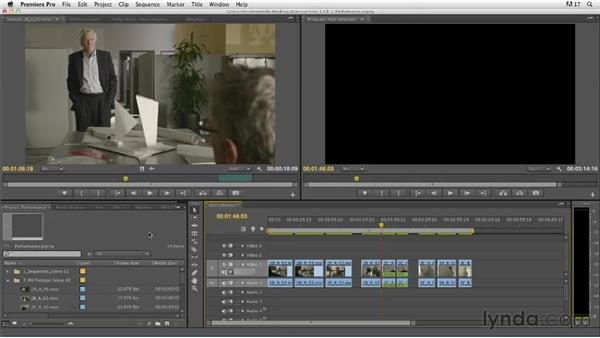 Evaluating performance in a take: Narrative Scene Editing with Premiere Pro