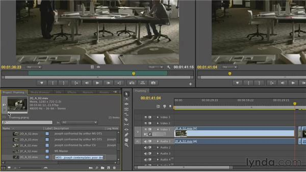 Evaluating shot framing: Narrative Scene Editing with Premiere Pro
