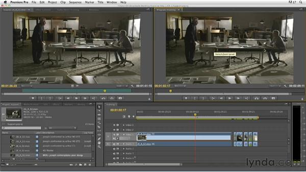 Evaluating supporting elements in a take: Narrative Scene Editing with Premiere Pro