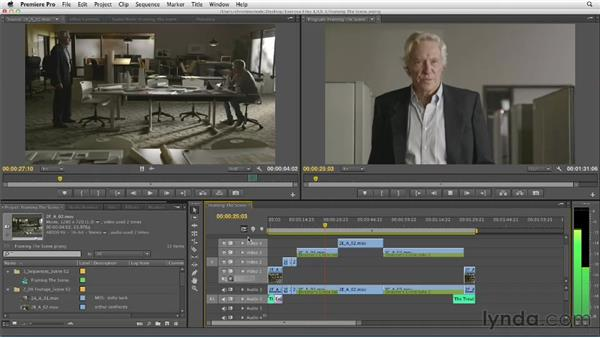 Framing the scene: Sequencing shots to build a rough cut: Narrative Scene Editing with Premiere Pro