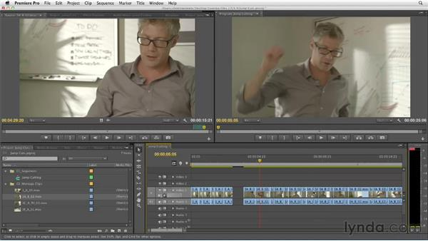 Compressing time using jump cuts: Narrative Scene Editing with Premiere Pro