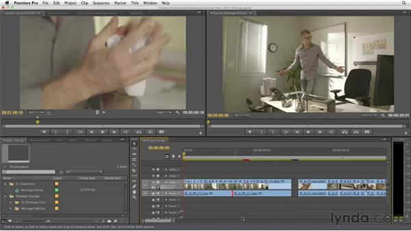 Refining montage pacing: Narrative Scene Editing with Premiere Pro