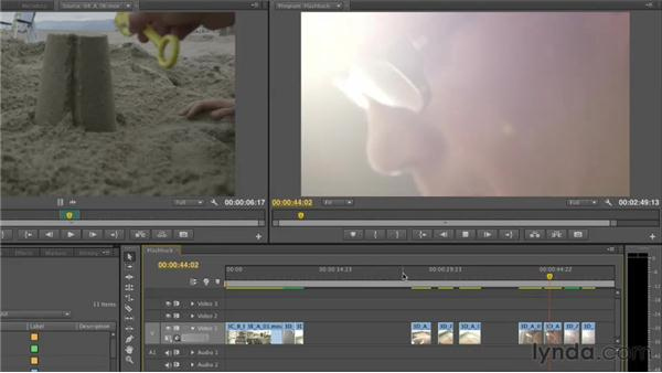 Discovering the flashback scene through visuals: Narrative Scene Editing with Premiere Pro
