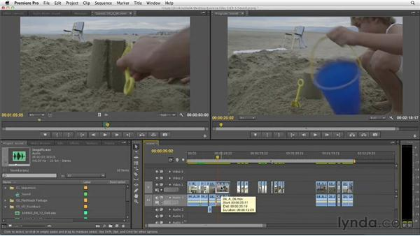 Working with audio to continue building the flashback scene: Narrative Scene Editing with Premiere Pro