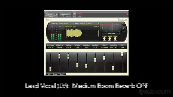 Creating contrasting sounds for your tracks: Foundations of Audio: Reverb