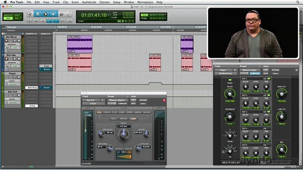 Get in the Mix: Supporting a track with regenerative reverb: Foundations of Audio: Reverb