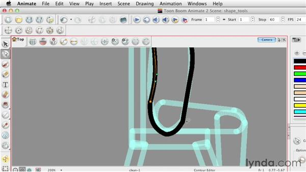 Shape tool basics: Animating Characters in Toon Boom Animate