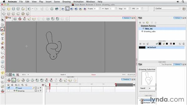 Knowing when to use drawing substitutions: Animating Characters in Toon Boom Animate