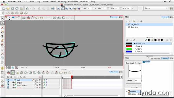 Creating extra mouth shapes: Animating Characters in Toon Boom Animate