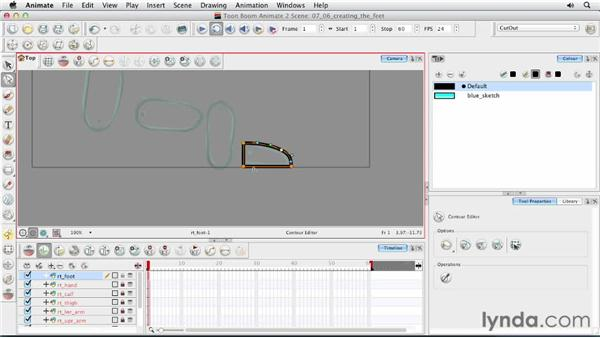 Designing the feet: Animating Characters in Toon Boom Animate