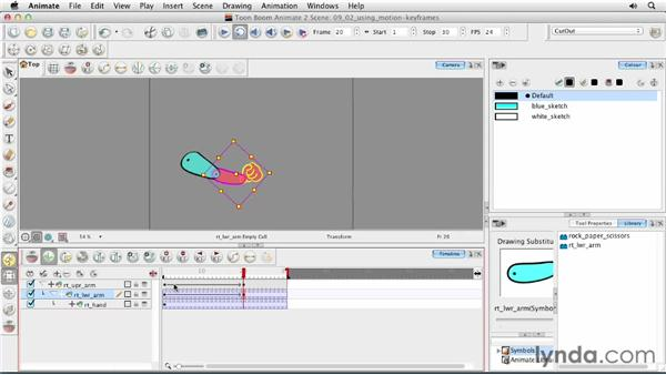 Using motion keyframes: Animating Characters in Toon Boom Animate
