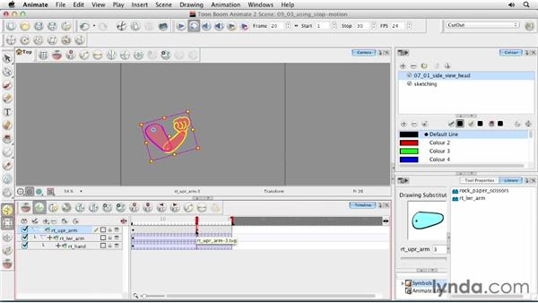 Using stop-motion keyframes: Animating Characters in Toon Boom Animate