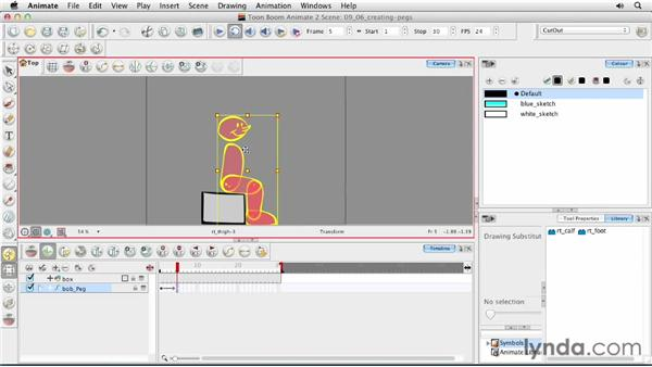 Creating pegs: Animating Characters in Toon Boom Animate