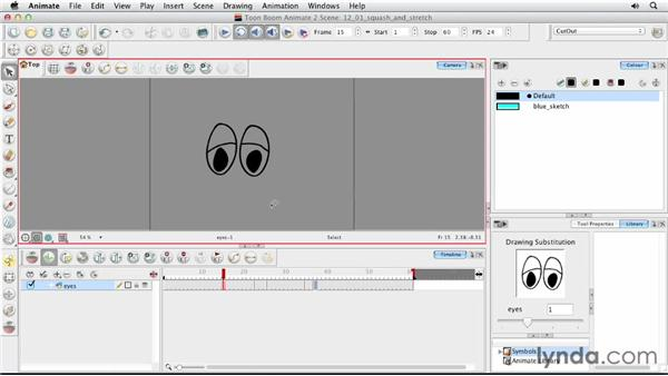 Using squash and stretch: Animating Characters in Toon Boom Animate
