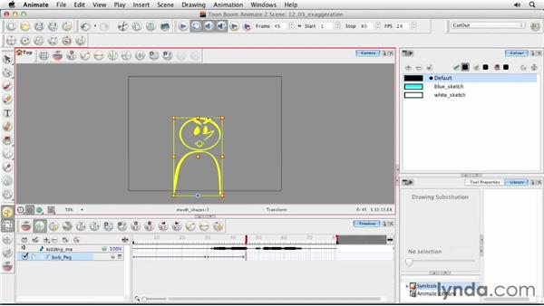 Exploring exaggeration and overexaggeration: Animating Characters in Toon Boom Animate