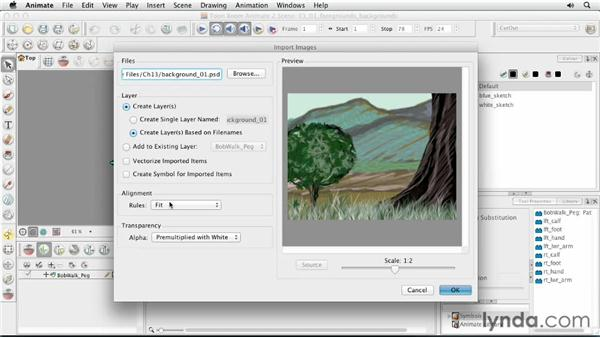 Creating foregrounds and backgrounds: Animating Characters in Toon Boom Animate