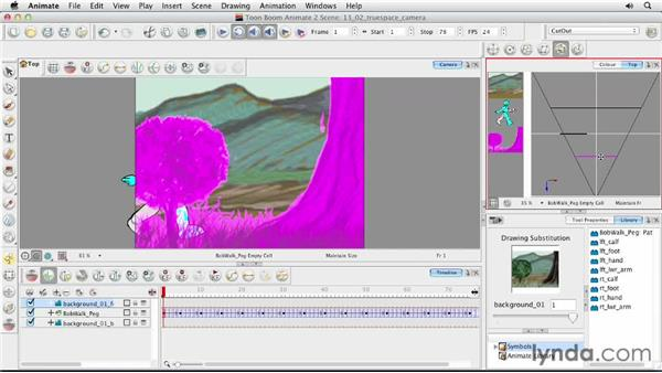 Using the True Space camera: Animating Characters in Toon Boom Animate