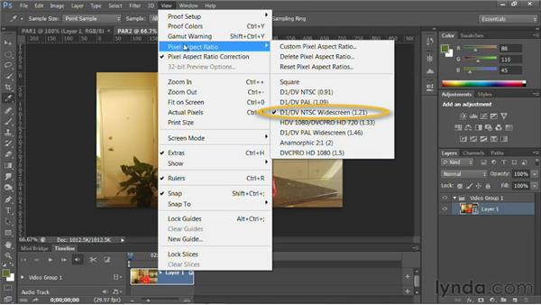 Understanding pixel aspect ratio: Photoshop for Video Editors: Core Skills