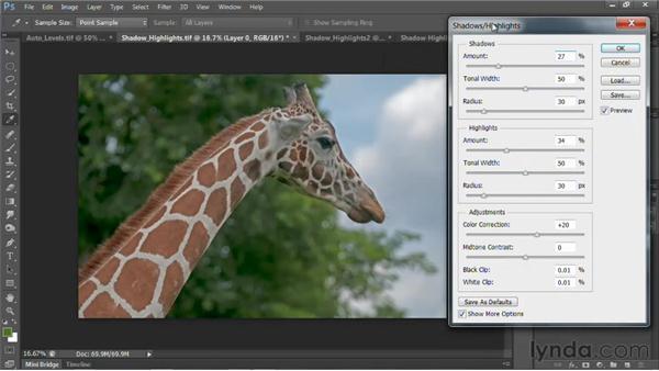Fixing exposure: Photoshop for Video Editors: Core Skills