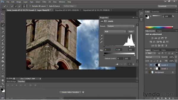 Fixing contrast: Photoshop for Video Editors: Core Skills