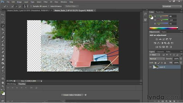 Using Content-Aware Scale: Photoshop for Video Editors: Core Skills
