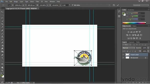 Placing the vector logo: Photoshop for Video Editors: Core Skills
