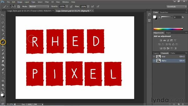 Working with raster logos: Photoshop for Video Editors: Core Skills