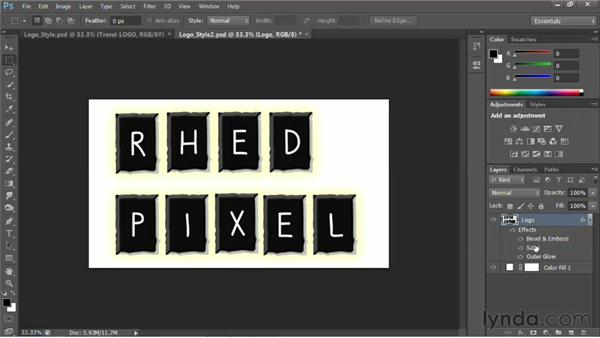 Enhancing with styles: Photoshop for Video Editors: Core Skills