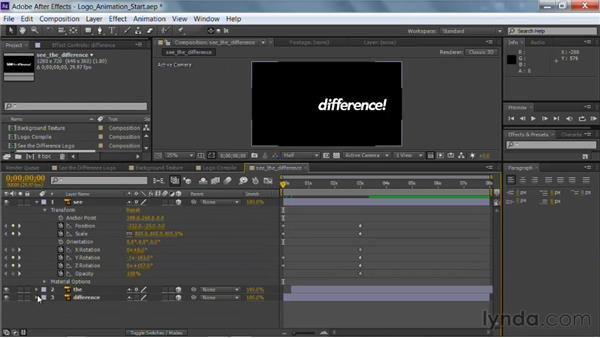 Animating a logo with keyframes in After Effects: Photoshop for Video Editors: Core Skills